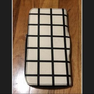 Fossil plaid check wallet sample Clutch Bag broken